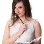 girl with pen and journal