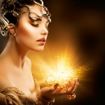 woman with magic